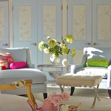 dominomag- eclectic pastel living room