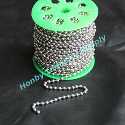 Honby Industry Supply limiter - #10 Metal ball chain for roller blind - Our #10/4.5mm stong and rustless metal ball chain is ideal for roller blind, vertical blind, window shade/screen and other blind component.