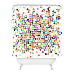 DENY Designs - Garima Dhawan Dance 2 Shower Curtain - Who says bathrooms can't be fun? To get the most bang for your buck, start with an artistic, inventive shower curtain. We've got endless options that will really make your bathroom pop. Heck, your guests may start spending a little extra time in there because of it!