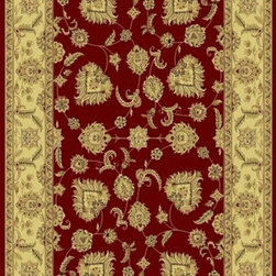 "Dynamic Rugs - Dynamic Rugs Rug, Red, 9' 2"" x12' 10"" - The Legacy Collection by Dynamic Rugs features persian styled rugs with 800,000 points with traditional colors."