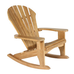 Douglas Nance - Douglas Nance Atlantic Adirondack Rocker - The Atlantic Adirondack Rocker is another masterpiece of comfort. The deeply contoured back, wide arms and curved seat make this rocker one of our top sellers! The rocker whispers comfort and relaxation as you sit and rest. Enjoy life - order an Atlantic today!
