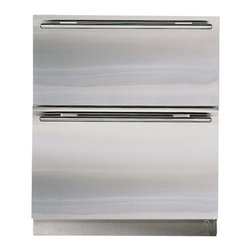 """Subzero 27"""" Built-in Double Drawer Refrigerator - A great addition for a busy family, our clients love having a separate drawer refrigerator for easy access for the kids, without having the main fridge open all of the time."""
