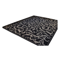 Safavieh - Safavieh Courtyard Cy2653-3908 Black / Sand Area Rug - Traditional patterns and classic beauty are found in the area rugs of the Courtyard collection. Made in Belgium of enhanced polypropylene, these rugs are extremely durable and perfect for indoor or outdoor use. The area rugs of the Safavieh Courtyard collection offer highly detailed and sophisticated designs created through an unusual sisal weave. Select the colors, design, and style that will compliment any room in your home in round, rectangular or runner rugs.