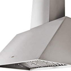 Proline - Proline PLFW 812 Professional Range Hood 2000 CFM, 36 - PLFW 812.54 Wall Hood, Newly re-designed and bigger and better than ever! Super Quiet with 6 Speed and up to 1000 CFM. Note: Pictures above showcase the optional chimney.