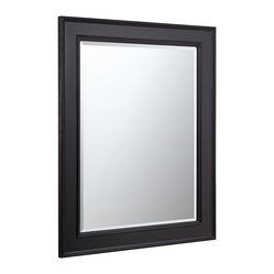 "Kitchen Bath Collection - Kitchen Bath Collection 28-inch Wall Mirror (Espresso) - This classic wall mirror is a perfect match for any Kitchen Bath Collection espresso-colored bathroom cabinet. Dimensions: 28"" wide x 35"" high x 1.25"" thick. Frame: 3.25"" wide."