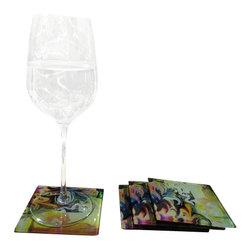 Jan Laurent - Torro Glass Coasters - Material: