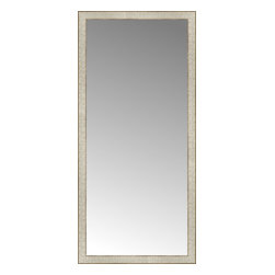 """Posters 2 Prints, LLC - 25"""" x 53"""" Libretto Antique Silver Custom Framed Mirror - 25"""" x 53"""" Custom Framed Mirror made by Posters 2 Prints. Standard glass with unrivaled selection of crafted mirror frames.  Protected with category II safety backing to keep glass fragments together should the mirror be accidentally broken.  Safe arrival guaranteed.  Made in the United States of America"""
