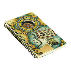 "Kids' Compass Journal - The kid's compass journal measures 5.1 x 8.1 x 0.8"". Chart your travels...working compass and journal in one."