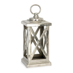 IMAX CORPORATION - Keira Small Aluminum Lantern - This isn't your ordinary lantern, cast in heavyweight aluminum, the small lantern looks great in a variety of settings. Find home furnishings, decor, and accessories from Posh Urban Furnishings. Beautiful, stylish furniture and decor that will brighten your home instantly. Shop modern, traditional, vintage, and world designs.