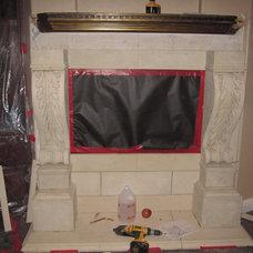 Mediterranean Indoor Fireplaces by TranDesign, Inc. / Foam Design Center.com