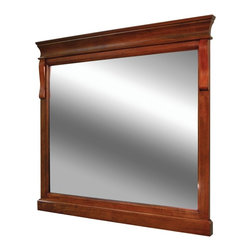 Pegasus - Naples 30 in. Mirror - NACM3032 - Manufacturer SKU: NACM3032. Secure mount easy hang system. 2 in. frame thickness. Warm cinnamon finish. 32 in. W x 30 in. H (19.91 lbs.)