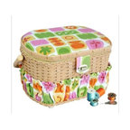 Michley Electronics - Lil Sew 42-Piece Sewing Basket - Lil sew and sew sewing basket provides a home for all of your sewing notions.