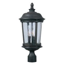Maxim Lighting - Maxim Lighting 3022CDBZ Dover Cast 3-Light Outdoor Pole/Post Lantern In Bronze - Features