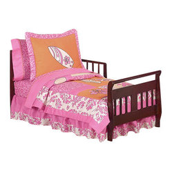Surf Pink & Orange Toddler Bedding Set (5 Pc.)