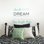New for Back to School & Dorm Room Decor - Wall Quote Cherish Dream Live Laugh Love New for Back to School & Dorm Room Decor
