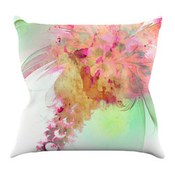 "Kess InHouse - Alison Coxon ""Lily"" Throw Pillow (26"" x 26"") - Rest among the art you love. Transform your hang out room into a hip gallery, that's also comfortable. With this pillow you can create an environment that reflects your unique style. It's amazing what a throw pillow can do to complete a room. (Kess InHouse is not responsible for pillow fighting that may occur as the result of creative stimulation)."