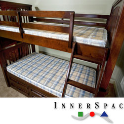 Innerspace - InnerSpace 5-inch Bunk Bed/ Dorm Twin-size Foam Mattress - Perfect for a dorm or bunk bed, this five-inch twin-size foam mattress is constructed from high-density foam to retain its shape and prevent breaking down. It features a durable non-quilt damask cover to withstand wear and tear from repeated use.