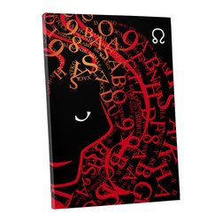 """PingoWorld - Zodiac Sign Leo Gallery Wrapped Canvas Print, 30""""x20""""x1.25"""" - Zodiac Sign Leo. Gallery wrap on archival quality canvas using Epson Ultra-Chrome inks and pine wood frames."""