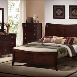 None - The Ariel Garden 5-piece Bedroom Furniture Set - Update the look of your bedroom decor with this stylish Ariel Garden bedroom furnitureBedroom set includes one queen bed,two nightstands,one dresser and one mirrorBedroom furniture features an espresso finish