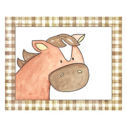 Oh How Cute Kids by Serena Bowman - Here's Looking at You - Horse, Ready To Hang Canvas Kid's Wall Decor, 8 X 10 - Every kid is unique and special in their own way so why shouldn't their wall decor be so as well! With our extensive selection of canvas wall art for kids, from princesses to spaceships and cowboys to travel girls, we'll help you find that perfect piece for your special one.  Or fill the entire room with our imaginative art, every canvas is part of a coordinating series, an easy way to provide a complete and unified look for any room.