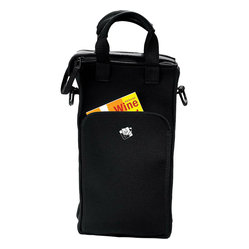 Wine Enthusiast 2-Bottle Zippered Neoprene Wine Tote Bag