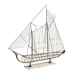 Cyan Design - Sail Away Sculpture - Sail away sculpture - rustic.