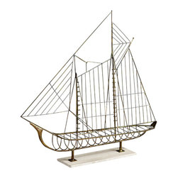 Cyan Design - Sail Away Sculpture - Sail away sculpture - rustic.