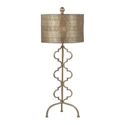Joshua Marshal - One Light Gold Leaf Gold Leaf Metal Shade Table Lamp - One Light Gold Leaf Gold Leaf Metal Shade Table Lamp