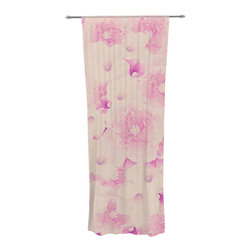 "Kess InHouse - Deepti Munshaw ""Blush Bouquet"" Pink Roses Decorative Sheer Curtain - Let the light in with these sheer artistic curtains. Showcase your style with thousands of pieces of art to choose from. Spruce up your living room, bedroom, dining room, or even use as a room divider. These polyester sheer curtains are 30"" x 84"" and sold individually for mixing & matching of styles. Brighten your indoor decor with these transparent accent curtains."