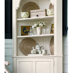 Universal Furniture - Paula Deen Corner Cupboard, Linen - A corner cupboard is just right for your kitchen or dining room. The slatted back and curved top of this one add just the right amount of cottage style.