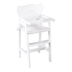 KidKraft - Tiffany Bow Lil' Doll High Chair - White by Kidkraft - Feeding time for young girls and their favorite dolls is easier than ever with our Tiffany Bow High Chair. This adorable, high-quality chair would make a welcome addition to any young girl's doll collection.