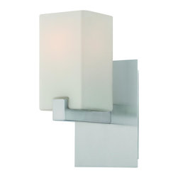 Lite Source - Polished Steel Raimondo 1 Light Bathroom Sconce - Lite Source LS-16541 Raimondo 1 Light Wall Sconce This product from Lite Source comes in a polished steel finish. Works with one 60-watt frosted incande