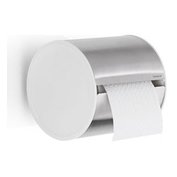 Blomus - Sento Toilet Paper Holder - Brushed - The Sento Brushed Wall-Mounted Toilet Paper Holder is made with matte-finished stainless steel and plastic. Includes wall mounting kit.