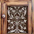 Firenze Classic Panel Stencil - Firenze Classic Panel Stencil for walls and furniture from Royal Design Studio Stencils. This handpainted Italian panel stencil brings classic Old World style to furniture and cabinetry but can also be used on walls and fabric.