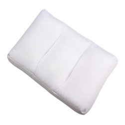 "Living Healthy Products - Comfort Cloud Pillow - White - Microbead - This amazing contoured pillow is filled with over 13 million micro-air beads that adjust to your head and neck for ultimate comfort and support. The unique beads won't break down or lose their shape, and they allow air to flow through the pillow for stay-cool comfort.The Sobakawa Cloud Pillow is crescent-shaped and anatomically designed to follow the contours of your neck and shoulders. As you move, millions of air beads move with you and absorb your movement, maintaining both comfort and support. After sleeping on the Sobakawa Cloud Pillow you'll awake rested and refreshed, every morning. Dimensions are L=20"" x W=13"" x H= 3"""