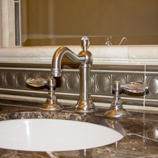 Traditional Powder Room by Design Times Inc