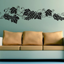 StickONmania - Grape Vines Design #3 Sticker - A cool vinyl decal wall art decoration for your home  Decorate your home with original vinyl decals made to order in our shop located in the USA. We only use the best equipment and materials to guarantee the everlasting quality of each vinyl sticker. Our original wall art design stickers are easy to apply on most flat surfaces, including slightly textured walls, windows, mirrors, or any smooth surface. Some wall decals may come in multiple pieces due to the size of the design, different sizes of most of our vinyl stickers are available, please message us for a quote. Interior wall decor stickers come with a MATTE finish that is easier to remove from painted surfaces but Exterior stickers for cars,  bathrooms and refrigerators come with a stickier GLOSSY finish that can also be used for exterior purposes. We DO NOT recommend using glossy finish stickers on walls. All of our Vinyl wall decals are removable but not re-positionable, simply peel and stick, no glue or chemicals needed. Our decals always come with instructions and if you order from Houzz we will always add a small thank you gift.