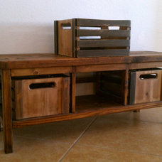 Vintage Workshop Storage Bench | Do It Yourself Home Projects from Ana White