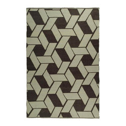 Safavieh - Hand Woven Plastic Outdoor Rug (6 ft. x 4 ft.) - Size: 6 ft. x 4 ft. Contemporary style. Synthetic fiber. Knotted construction. Geometric pattern. Resistant to mold, mildew, sun, water and other elements. Made from plastic. Saddle color. Made in India. Pile height: 0. 25 in.