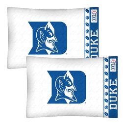 Store51 LLC - NCAA Duke Blue Devils Football Set of Two Pillowcases - Features: