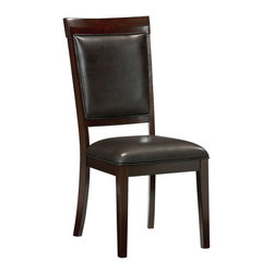 Standard Furniture - Standard Furniture Vineyard Upholstered Side Chair in Rich Merlot (Set of 2) - Like the carefully chosen frame surrounding a beautiful work of art, Vineyard Dining features wide beveled frames on all pieces and a rich merlot finish.