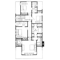 Craftsman Floor Plan Santa Monica Beach House