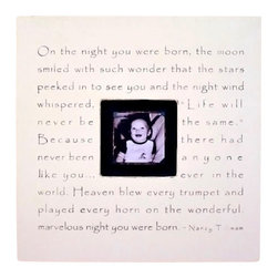 On The Night You Were Born Photobox Frame - Create your own precious memories with this 'On the Night You Were Born' Square Picture Frame by Sugarboo Designs. Each photobox picture frame is hand painted and hand made, making it an original piece of art! The slightly distressed design will coordinate beautifully with any child's room or nursery.