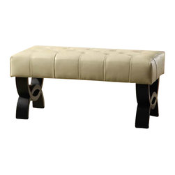 Armen Living - Armen Living Central Park Tufted 36 Inch Leather Ottoman in Cream - Armen Living - Ottomans - LC5012BEBCCR36 - 36 inches ottoman with plenty of room for two people to sit at and enjoy. Armen Living is the quintessential modern-day furniture designer and manufacturer. With flexibility and speed to market Armen Living exceeds the customer's expectations at every level of interaction. Armen Living not only delivers sensational products of exceptional quality but also offers extraordinarily powerful reliability and capability only limited by the imagination. Our client relationships are fully supported and sustained by a stellar name legendary history and enduring reputation. The groundbreaking new Armen Living line represents a refreshingly innovative creative collaboration with top designers in the home furnishings industry. The result is a uniquely modern collection gorgeously enhanced by sophisticated retro aesthetics. Armen Living celebrates bold individuality vibrant youthfulness sensual refinement and expert craftsmanship at fiscally sensible price points. Each piece conveys pleasure and exudes self expression while resonating with the contemporary chic lifestyle.