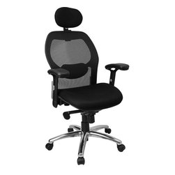 Flash Furniture - High Back Super Mesh Office Chair with Black Fabric Seat and Knee Tilt Control - This mesh office chair will comfortably accommodate your needs as a office or home office chair. Chair features a breathable mesh back with a comfortably padded seat. The silver accented back adds a touch of flair to highlight your work space.
