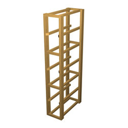 EcoWineracks Upper Magnum Rack, Golden Color, Clear Acrylic Finish - EcoWineracks are the worlds only traditional style wine racks made from non-forested and sustainable bamboo. Bamboo is superior to wood in strength and durability, is non-warping and has consistent grain.