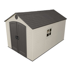 Lifetime - Lifetime Storage Shed (8' x 12.5') - Safely store your garden items,ATVs and more in this handsome shed from Lifetime. This storage shed will give your property a clean and organized look.