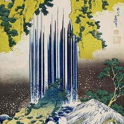 Wallmonkeys Wall Decals - Fine Art Murals The Yoro Falls in Mino Province  - 60 Inches H - Easy to apply - simply peel and stick!