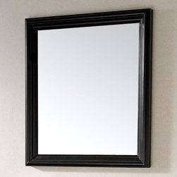 """30"""" Milano Vanity Mirror - Black - The Contemporary Milano Vanity Mirror is perfect for the minimalist look with its sleek and simple Black frame. Pair with the Milano Console Vanity Cabinets to complete the look."""