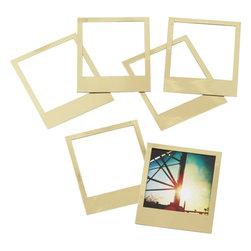 set of 6 magnetic gold frames -